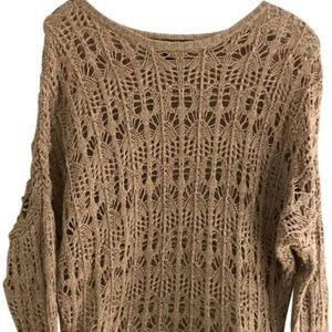 Elizabeth and James Blush Pink Crochet Sweater
